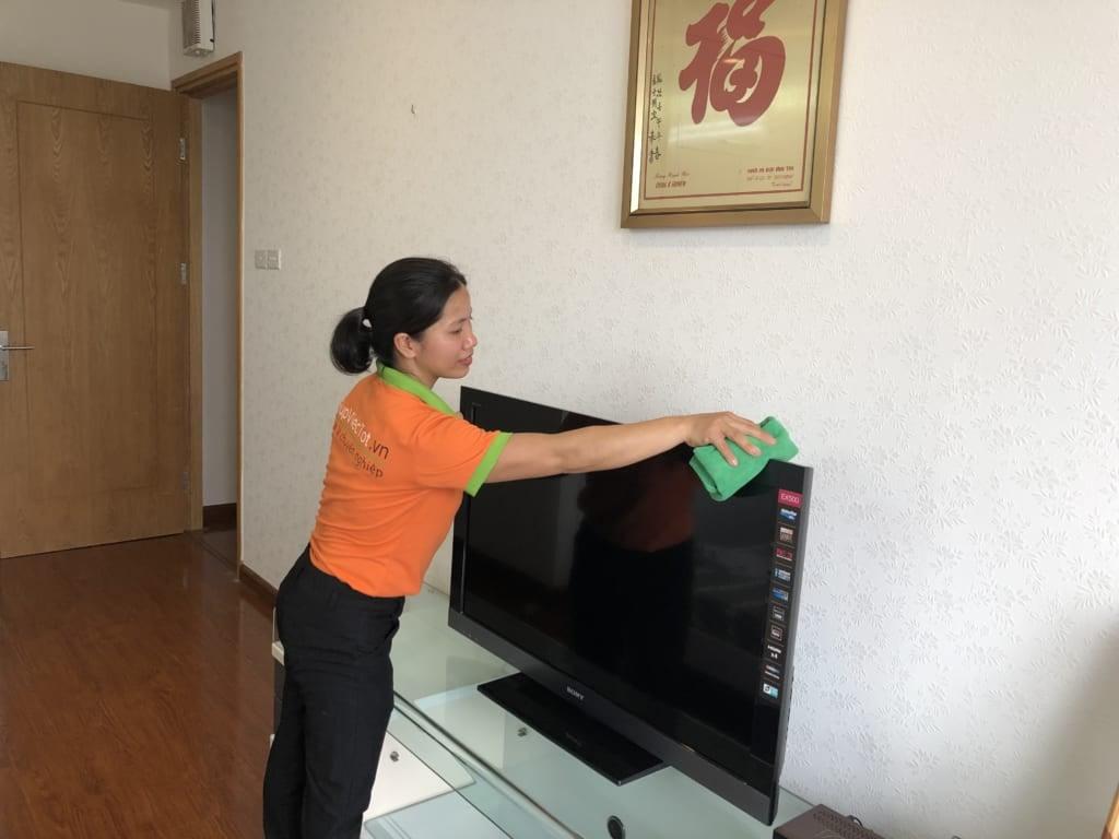 dịch vụ lau dọn nhà cửa theo giờ