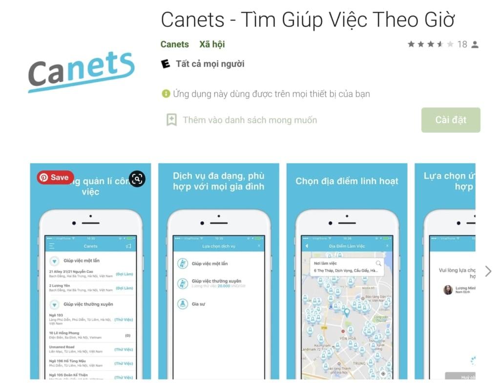 Canets - Tìm Giúp Việc Theo Giờ