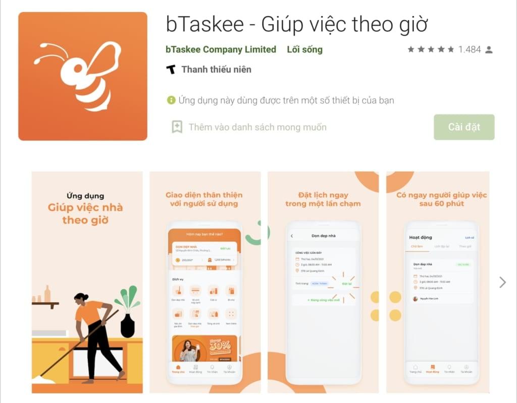bTaskee - Giúp việc theo giờ