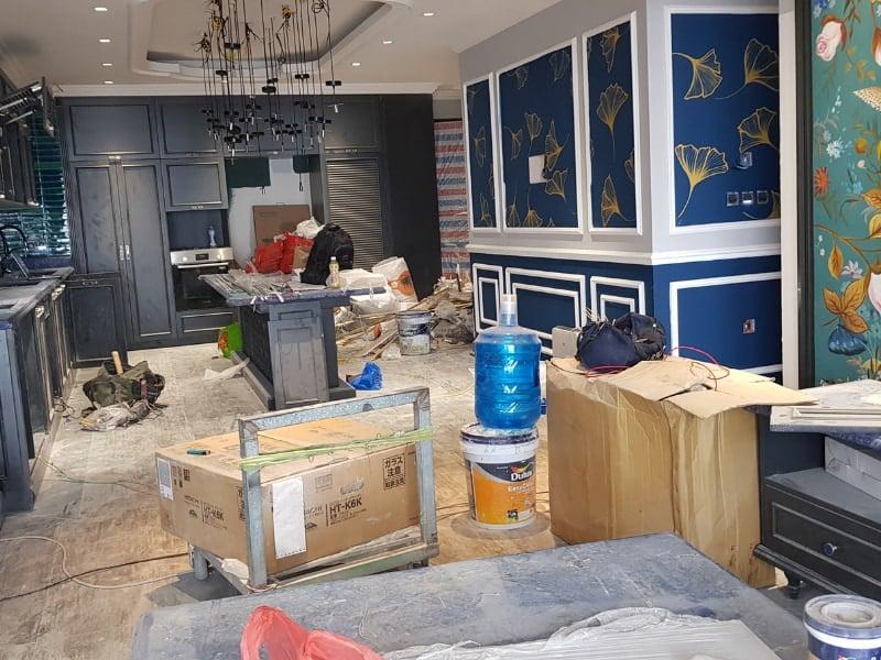 phòng khách căn hộ chung cư trước khi được dọn