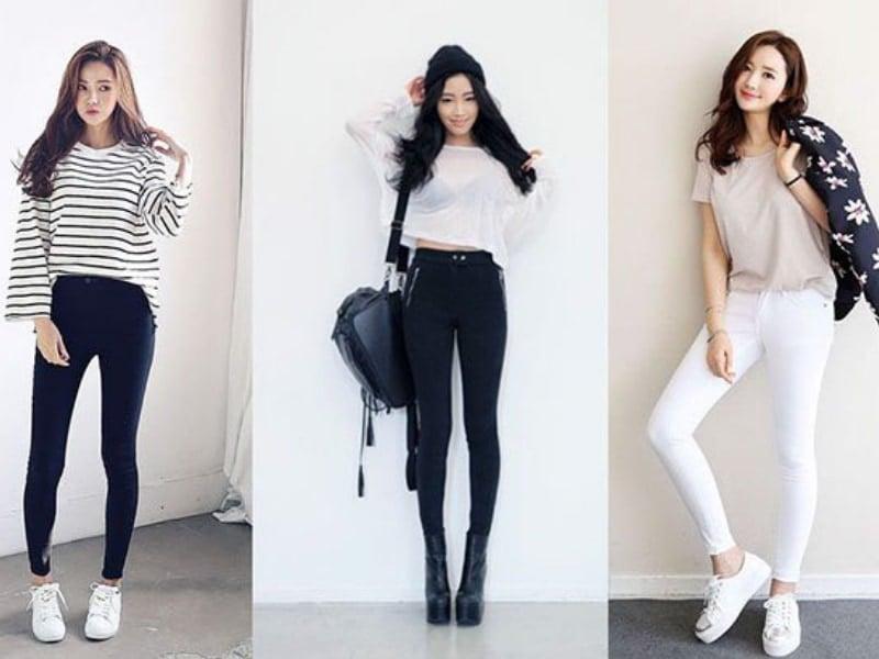Ao phong mix quan jeanss
