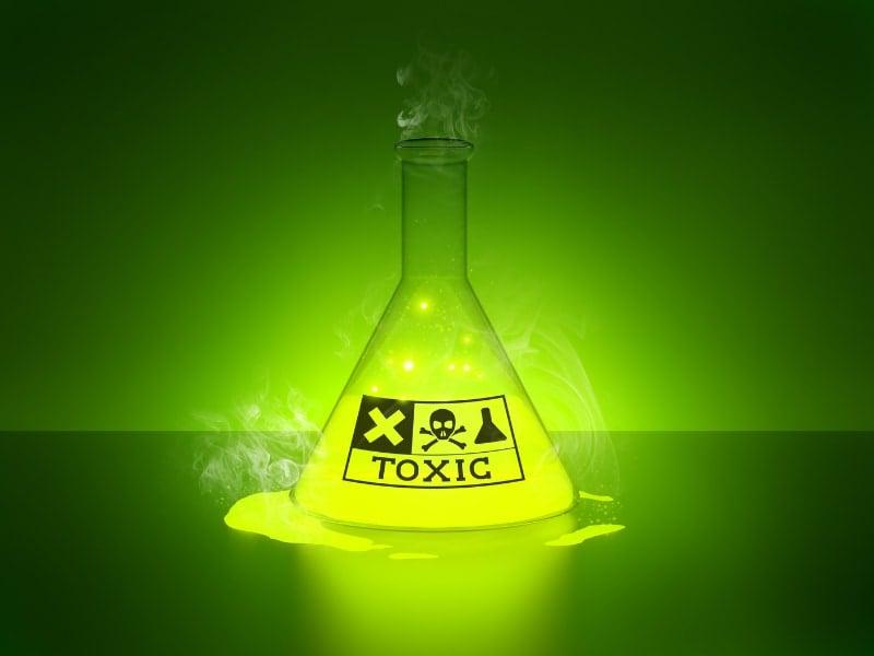 Hg thuộc top 10 hóa chất độc hại