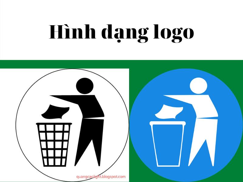 logo bỏ rác vào thùng
