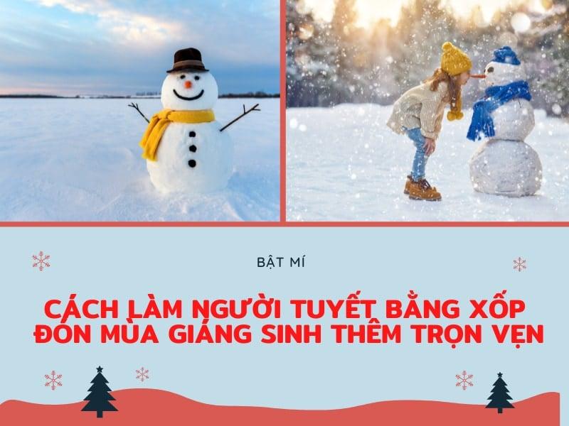 cách làm người tuyết bằng xốp