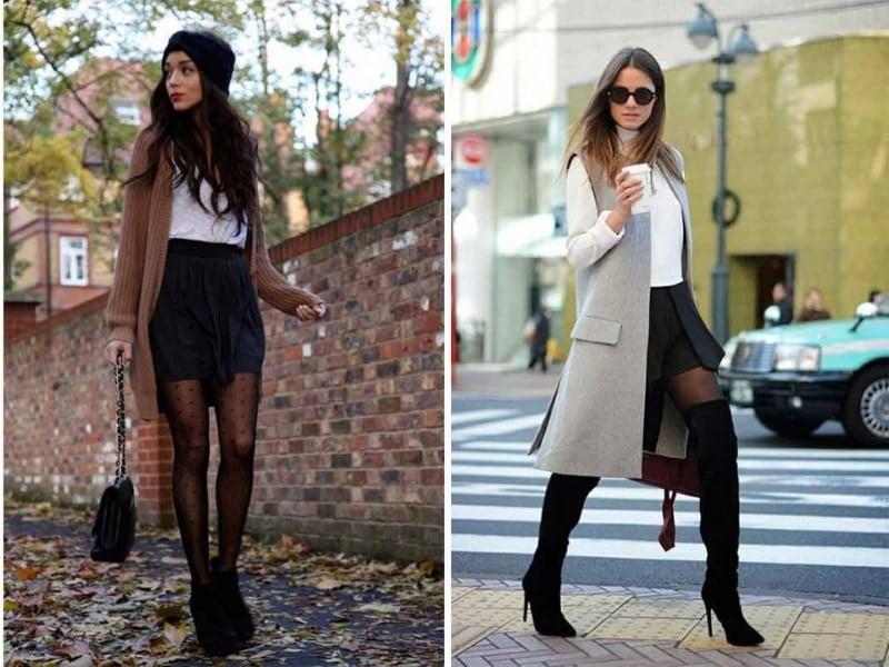 boot nữ cổ cao phối cùng áo khoác dáng dài