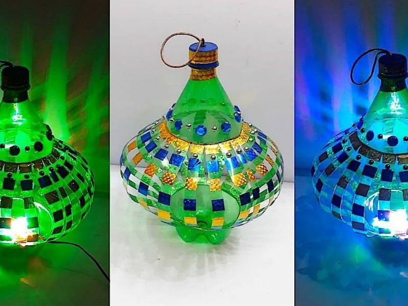 cách làm đèn lồng bằng chai nhựa