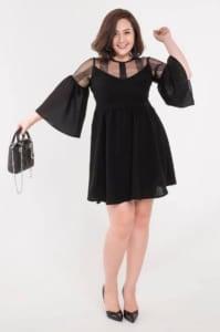 váy cho người thấp tròn