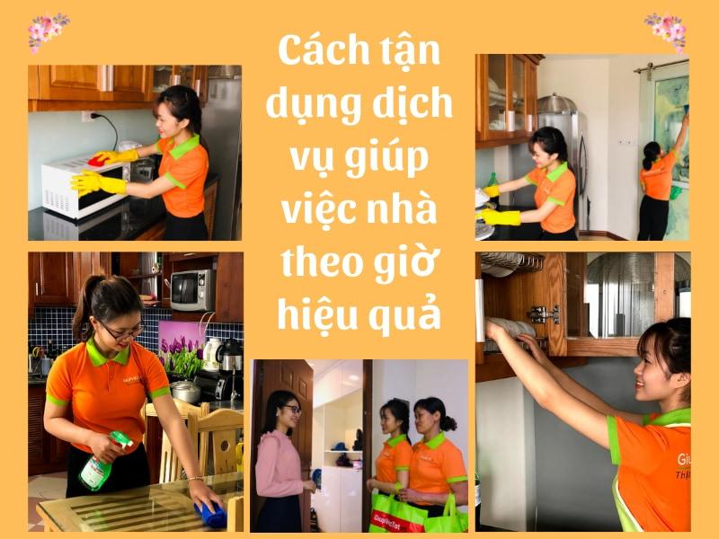 Cách tận dụng dịch vụ giúp việc nhà theo giờ hiệu quả vượt trội