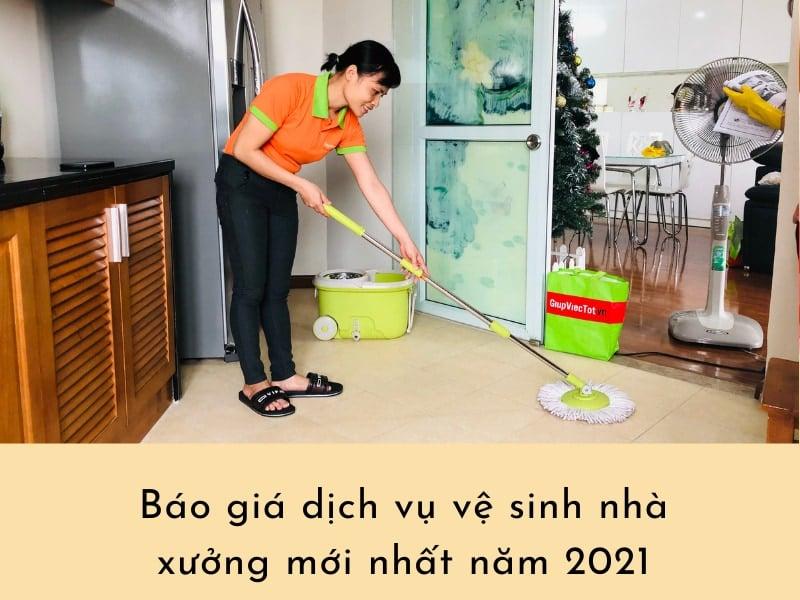 Báo giá dịch vụ vệ sinh nhà xưởng mới nhất năm 2021