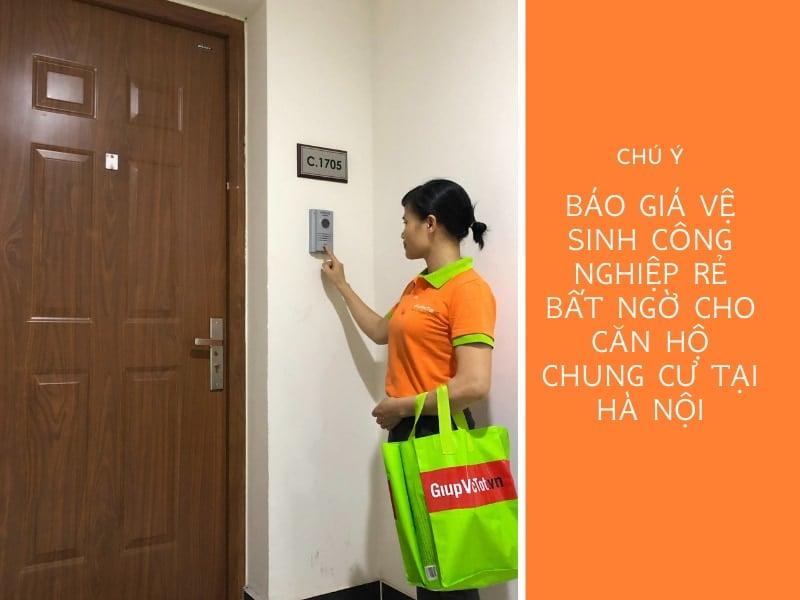 Báo giá vệ sinh công nghiệp rẻ bất ngờ cho căn hộ chung cư tại Hà Nội