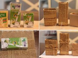 làm đồ chơi từ vỏ hộp sữa tươi