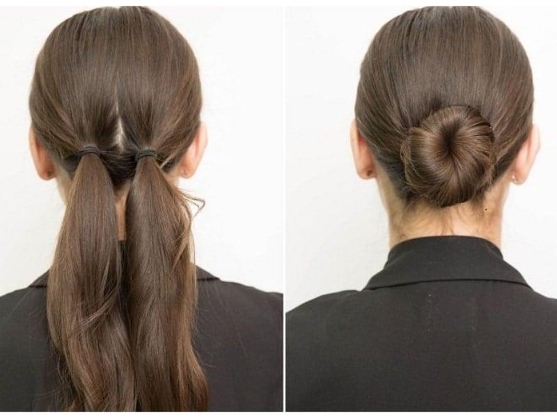 búi tóc cho người trung niên