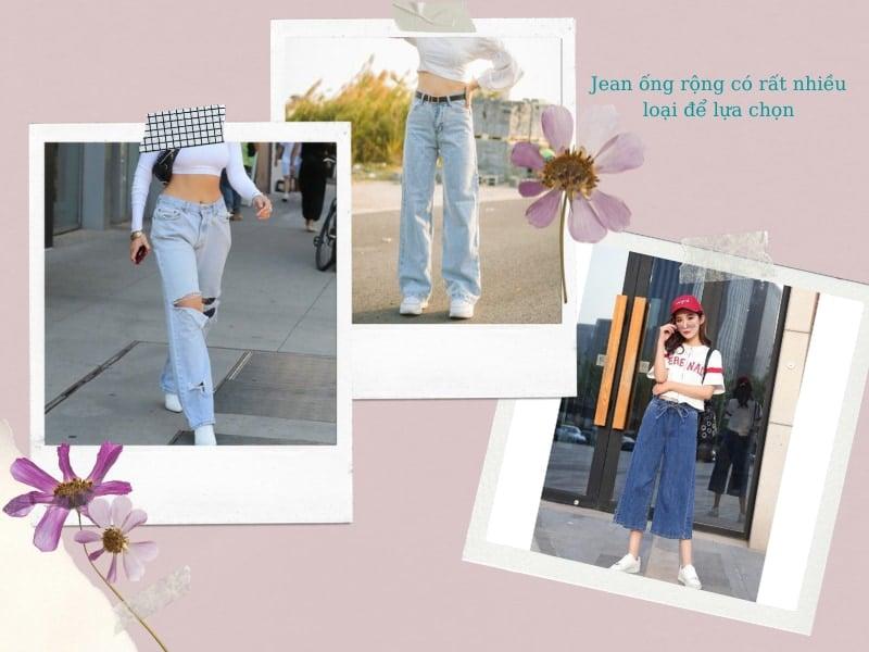 quần jean ống rộng có rất nhiều loại để lựa chọn