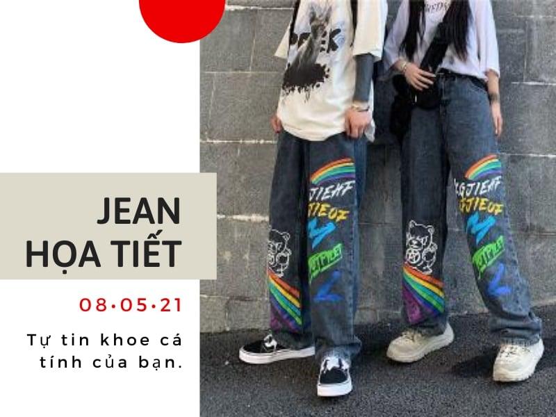 quần jean ống rộng mặc với áo gì