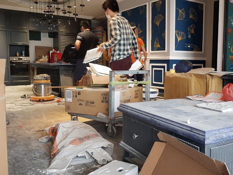 đội vệ sinh nhà mới xây sau xây dựng sau sửa chữa