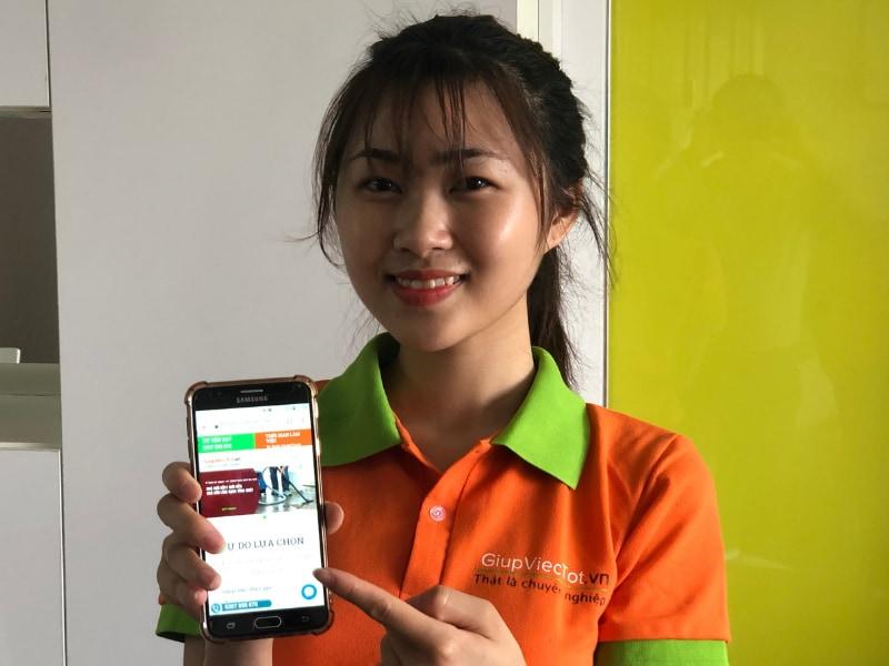 đăng kí giúp việc qua app