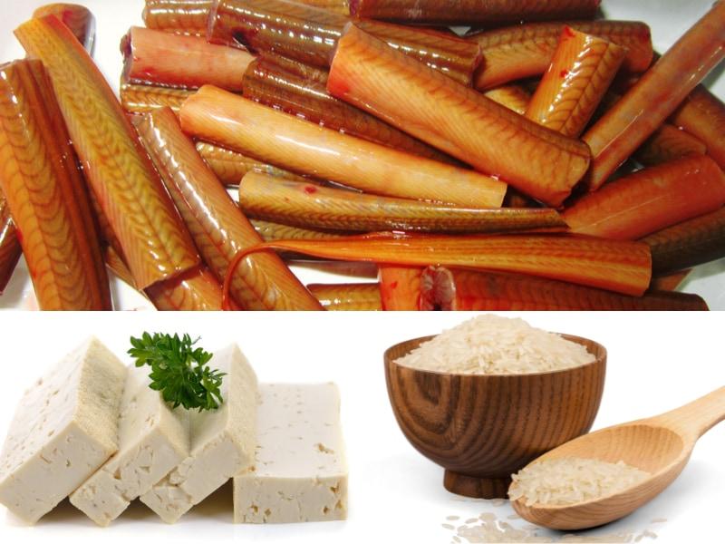 Nguyên liệu trong cách nấu cháo lươn Thanh Hoá