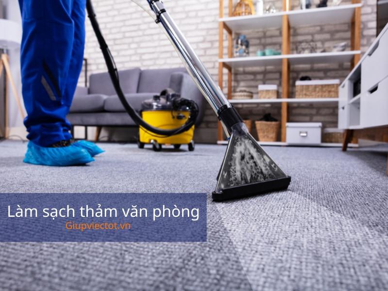 báo giá giặt thảm văn phòng chuyên nghiệp Hà Nội tại Giúp Việc Tốt