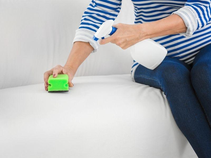 cách làm sạch sofa nhung - dùng bàn chải