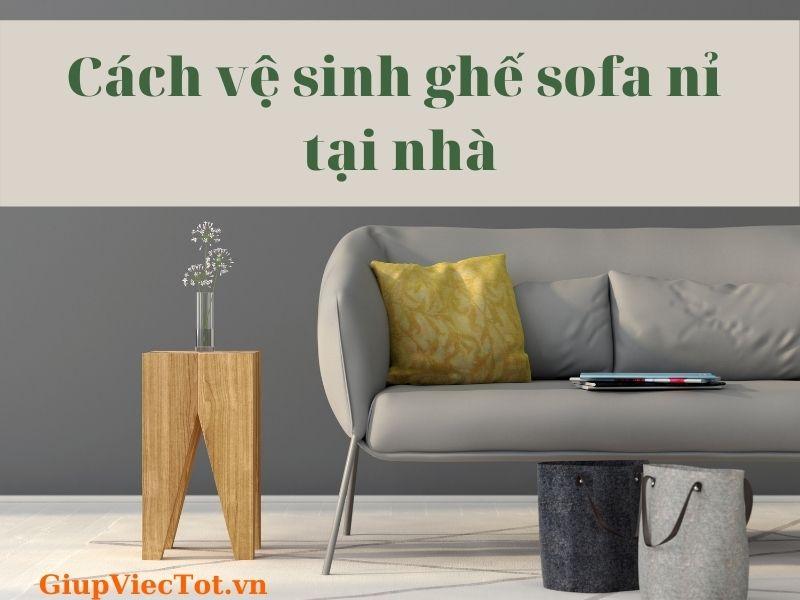 [Mách bạn] Cách vệ sinh ghế sofa nỉ tại nhà với baking soda!