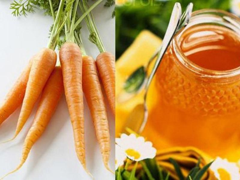 cách làm nước ép carot với mật ong
