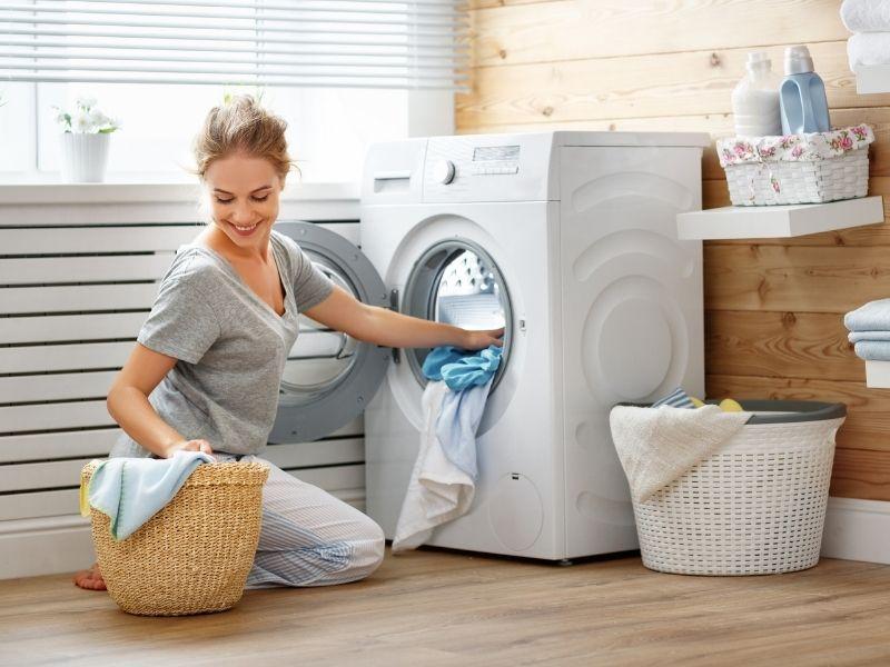 dùng máy giặt