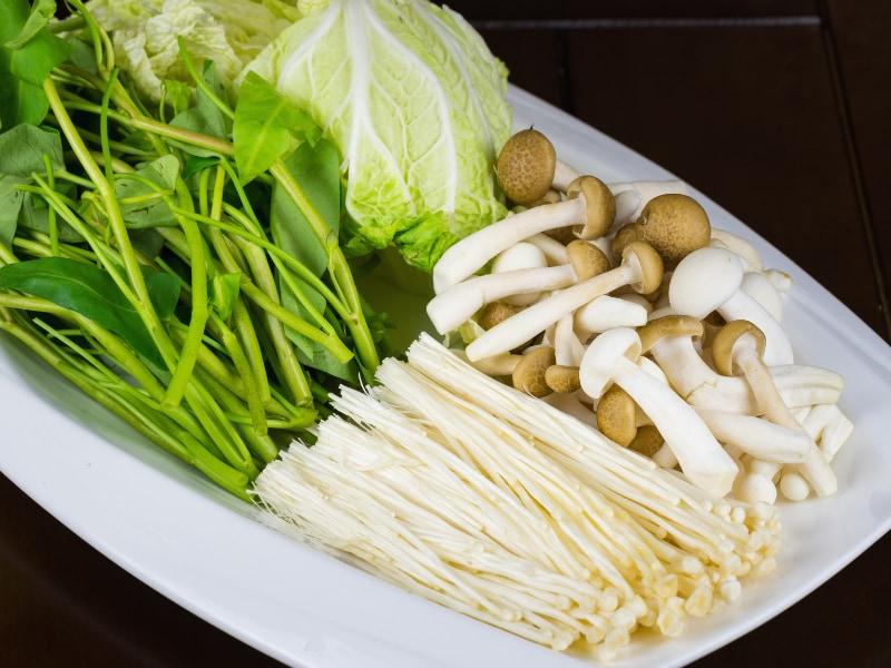 rau và nấm