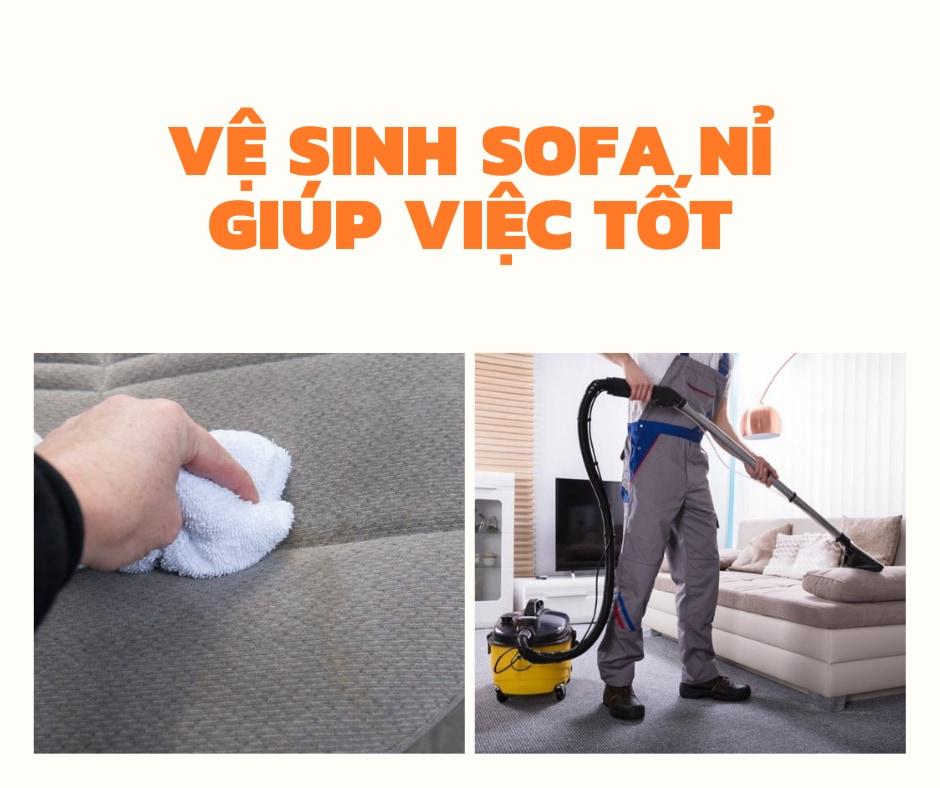 [Mách bạn] Cách vệ sinh ghế sofa nỉ sạch như mới bà nội trợ nên biết