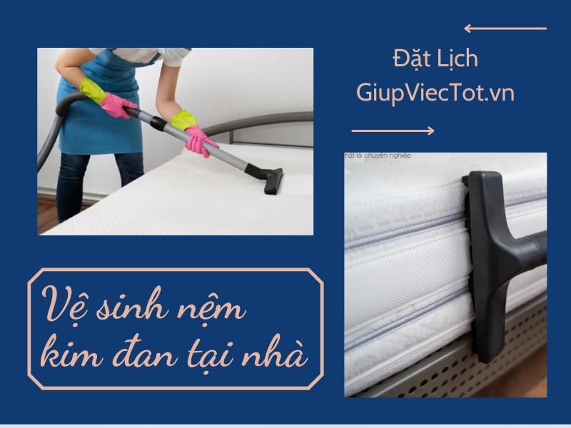 Quy trình vệ sinh nệm kim đan tại nhà hiệu quả nhất
